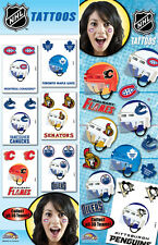 ( 1 ) NHL TEAM TEMPORARY LOGO TATTOOS  NHL LICENSED  PICK YOUR TEAM