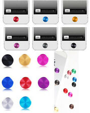 10 color choose Aluminium Metal Round Home Case button Stickers For Apple