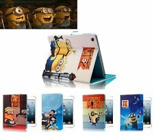 Despicable Me Minion PU Leather Cartoon Case Cover Stand For iPad mini/2/3 Apple