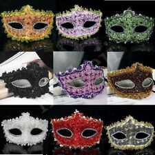 Lace Sexy Venetian Feather Party Ball Dress Masquerade Mask Paillette Eye Masks