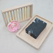 Popular Natural Wood Soap Tray Holder Dish Box Case Storage Shower Wash Bathroom