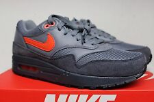 Nike Air Max 1 Premium FB Football Soccer Anthracite Team Orange 579920 001