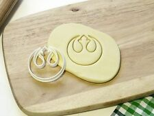 Star Wars Rebel Alliance Symbol Cookie Cutter Cupcake Topper Fondant Gingerbread