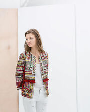 ZARA EMBROIDERED JACKET WITH BEADS SMALL & MEDIUM