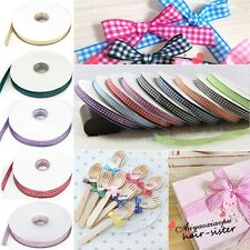 "Gingham Ribbon 25/50/100yards 3/8"" 5/8""30 color u pick home decorating craft xxq"