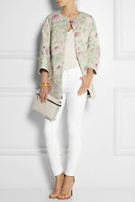 New  AUTH Red Valentino Floral-print scuba coat $863 peony-print