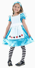 ALICE GIRLS CHILDRENS OUTFIT GIRLS FANCY DRESS COSTUME AGES 4-12