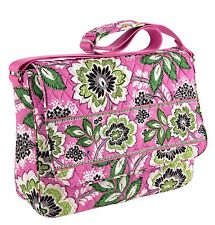 NEW Vera Bradley Messenger Bag $86 Priscilla Pink Travel School Book Bag NWT