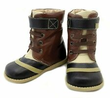 NIB LIVIE & LUCA Shoes Boots Gaffer Brown Toddler 5 6