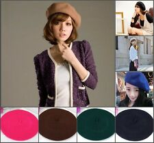 Fashion Warm Women Felt French Beret Beanie Newsboy Berets Cap Tam