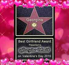PERSONALISED HOLLYWOOD STAR WALK OF FAME, NEW DESIGNS FOR VALENTINES GIFT