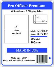 PO07 Pro Office Self-Adhesive Premium shipping Labels 8.5 X 5.5 for USPS Paypal