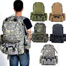 55L 3D Outdoor Molle Military Tactical Backpack Rucksack Trekking Bag Camping