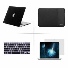 Satin Hard Case Rubberized Cover sleeve bag For Macbook Pro 13 11 15 Air +Retina