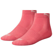 Puma Sports Socks Cushioned Match Quarters Two Pair Packs UK Sizes 2.5 up to 11