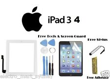 White Premium Digitizer Touch Screen Glass Replacement Frame For iPad 3 4 +Tools