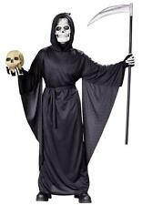 Child Grim Reaper Robe Cosplay Halloween Costume Fancy Dress Up