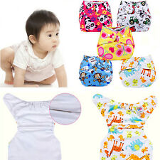 New Baby Infant Reusable Washable Printed Pocket Cloth Diaper Nappy Snap Inserts