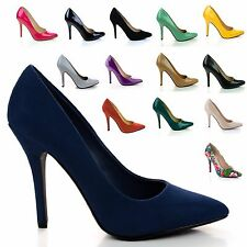 Date Classic High Heel Pointed Pointy Toe Dress Plain Pump, Women New Shoes