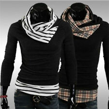Fashion Slim Fit Contrast Patchwork Collar Knitwear Men's Clothing