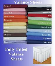Fitted Valance Polycotton Sheets Single Double King 22 Colours Cheap!!!!!!!