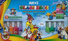 Amos Glass Deco Stained Glass Window Kit PEELABLE AMOS ART deco glass paint