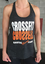 Crossfit T-Back Tank Top for Crossfit Weight Lifting Fitness Yoga Exercise