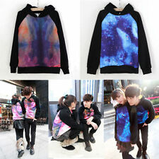 Unisex Lovers Galaxy Comic Stars Astronomy Print Sweater Top Shirt Jumper Hoodie