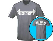 Sore Today Strong Tomorrow Gym Workout Mens Weightlifting T-Shirt (12 Colours)