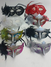 Feather Fancy Dress Masquerade Costume Carnival Party Ball Carnival Eye Mask