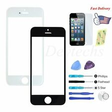 for Apple iPhone 5 Replacement Front Glass Outer Screen Lens Repair Kit