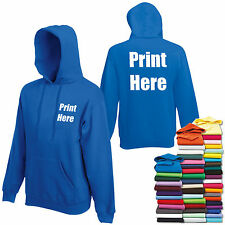 Mens / Adults Custom Printed Hoodie Personalised Hooded Sweatshirt Workwear