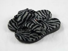 Orthaheel Relax Dark Grey Zebra Slippers PREOWNED