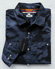 NWT Mens Tommy Hilfiger Custom Fit Long Sleeve Camo Shirt