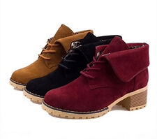 female ankel boots strappy low-heel pant shoes Matte leather fashion ankle boots