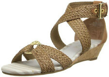 SPERRY TOP-SIDER women's ALVINA Espadrille Low Heel Wedge SANDALS COGNAC nib $99