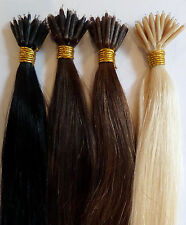 "♥ Nano Ring Hair Extensions 20"" 1g Strands 100% Human Indian Remy Remi Hair ♥"