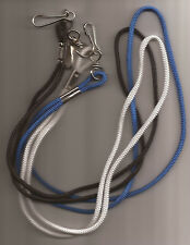 Round Braid Nylon Lanyard Whistle 16 Inches Long Choose Color Pack of 2