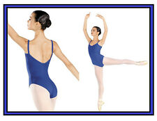 NEW! WOMENS BALLET LEOTARD WITH A V SHAPED BACK . 7 COLORS AVAILABLE! (X7065)