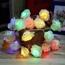 20LED Rose Flower Fairy Wedding Party Christmas Decoration String Lights HG