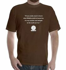 New Mens colors short sleeve cotton tshirt J. R. R. Tolkien Quote: Earth