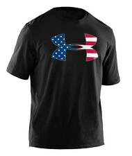Men's Under Armour 1239879 UA Big Flag Logo Black T-Shirt NWT