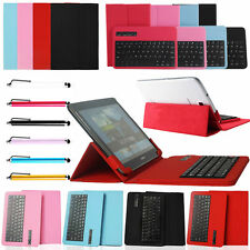 "Universal Removable Bluetooth Keyboard Case Cover For 7~10.1"" Android iOS Tablet"