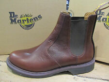 Dr Martens Victor Dark Brown Leather Chelsea Boot Shoe