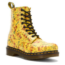Dr. Martens  Women's 1460 W Sun Yellow Little Flowers Leather Ankle Boots