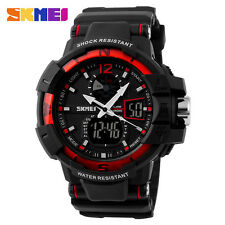 SKMEI 50M Waterproof Outdoor LED Dial Digital WristWatch Rubber Band Men RT Gift