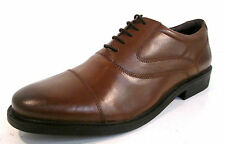 """MENS HUSH PUPPIES TAN LEATHER FORMAL LACE-UP SHOES """"ROCKFORD OXFORD"""""""