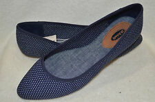 Dr Scholl's Really Navy Polka Dot Women's Ballet Flat Shoes- Size 6/7.5/8/9.5/10