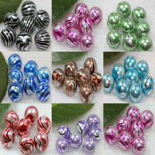Hot 10/50Pcs LampWork Water Ripple Crystal Glass Round Loose Spacer Beads 12mm