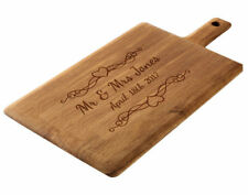 Personalised Oak Chopping Board, Laser Engraved Wedding or Anniversary Gift